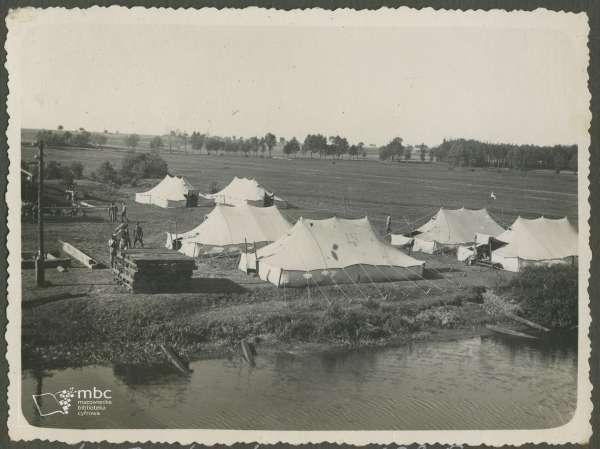 oboz budowa mostu 1935